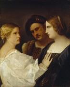 Две женщины и мужчина. Трио - Тициан Вечеллио
