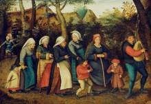 Процессия невесты в церковь - Брейгель, Питер (Младший)