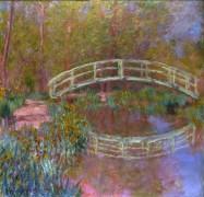 Японский мостик в саду Моне - Моне, Клод