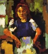 Девочка с куклой - Кокошка, Оскар