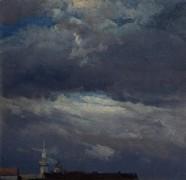 Грозовые облака над башней замка в Дрездене - Даль, Юхан Кристиан Клаусен