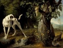 Пейзаж с собакой и куропатками - Депорт, Александр-Франсуа