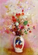 Букет цветов в японской вазе - Редон, Одилон