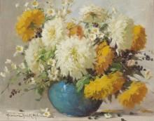 Натюрморт с цветами - Деак, Адриен Хенцне