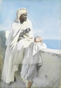 Мужчина и мальчик в Алжире - Цорн, Андерс