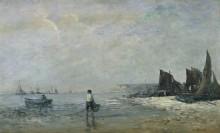 Рыбаки в Виллервиле, отлив - Буден, Эжен