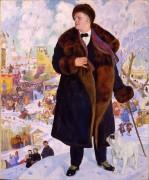 Портрет Шаляпина - Кустодиев, Борис Михайлович
