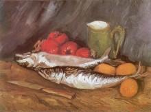 Натюрморт с лимонами скумбрией и помидорами - Гог, Винсент ван