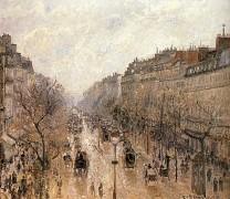 Утро. Туман. Бульвар Монмартр. 1897 - Писсарро, Камиль