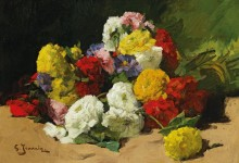 Натюрморт с цветами - Жеаннен, Жорж