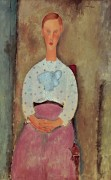 Молодая женщина в блузке в горошек - Модильяни, Амадео