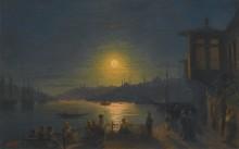 Восход луны над Золотым рогом - Айвазовский, Иван Константинович