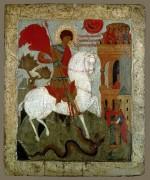 Святой Георгий и дракон, Ростово-Суздалская школа, 16 век, 70х58