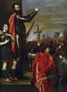 Обращение маркиза дель Васто к своим солдатам - Тициан Вечеллио