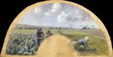 Сборщицы капусты - Писсарро, Камиль