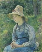 Крестьянка в соломенной шляпе - Писсарро, Камиль
