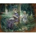 Женщина с ребенком в саду - Моризо, Берта