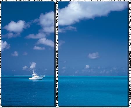 Яхта в лазурном море_2