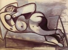 Женщина, лежащая на гигантской руке, 1945 - Пикассо, Пабло