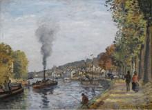 Сена в Буживале, 1871 - Писсарро, Камиль