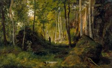 Пейзаж с охотником. Остров Валаам, 1867 - Шишкин, Иван Иванович
