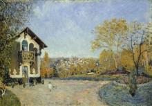 Пейзаж с видом на Марли-Ле-Руа из Кёр-Волана - Сислей, Альфред