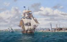 Китобойное судно Лексингтон отплывает из Нантакета - Кросс, Рой