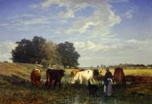 Коровы на лугах Турени - Труайон, Констан
