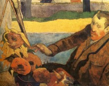 Портрет Винсента ван Гога, рисующего подсолнухи, 1888 - Гоген, Поль