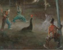 Клоуны играют в мяч с тюленем - Гонсалес, Ева