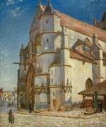 Церковь в Море в утреннем свете - Сислей, Альфред