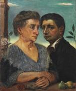 Автопортрет с мамой - Кирико, Джорджо де