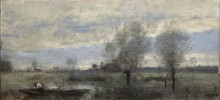 Паллюэль, лодочник на болоте - Коро, Жан-Батист Камиль