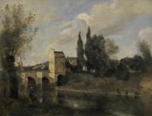 Мост в Манте - Коро, Жан-Батист Камиль
