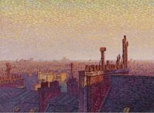 Крыши Парижа, закат, 1899 - Кариот, Густав