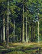 Еловый лес, 1891 - Шишкин, Иван Иванович