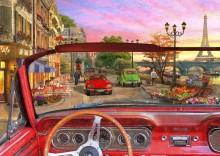Вид на Париж из автомобиля