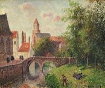 Старый мост в Брюгге - Писсарро, Камиль