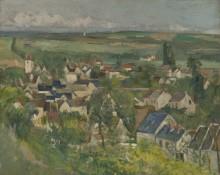 Пейзаж с видом на Овер - Сезанн, Поль