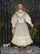 Девушка в розовом - Руссо, Анри
