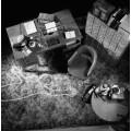 Офис с меловым контуром тела - Полюс, Майкл