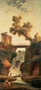 Пейзаж с водопадом  Пейзаж с водопадом -  Робер, Юбер