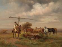 Венгерский пастух в степи - Эбелинг, Йозеф
