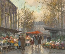 Цветочные ряды на площади Мадлен - Кортес, Эдуард