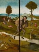 Воз сена, закрытые створки - Странник - Босх, Иероним (Ерун Антонисон ван Акен)