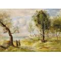 Пейзаж (по мотивам Коро), 1897-98 - Ренуар, Пьер Огюст