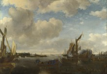 С голландской яхты стреляют салют - Капелле, Ян ван де