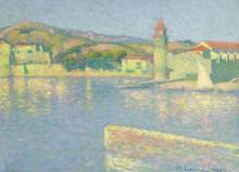 Вид на порт Коллиур с точки Сент-Винсент 1928 - Ложе,  Ашиль