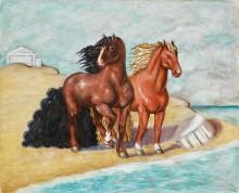 Лошади на морском берегу - Кирико, Джорджо де