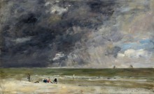 Морской берег в Трувиле - Буден, Эжен